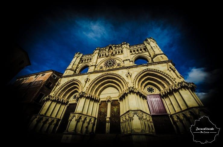 La catedral de Cuenca, de estilo gótico, es el templo más famoso y espectacular de la ciudad
