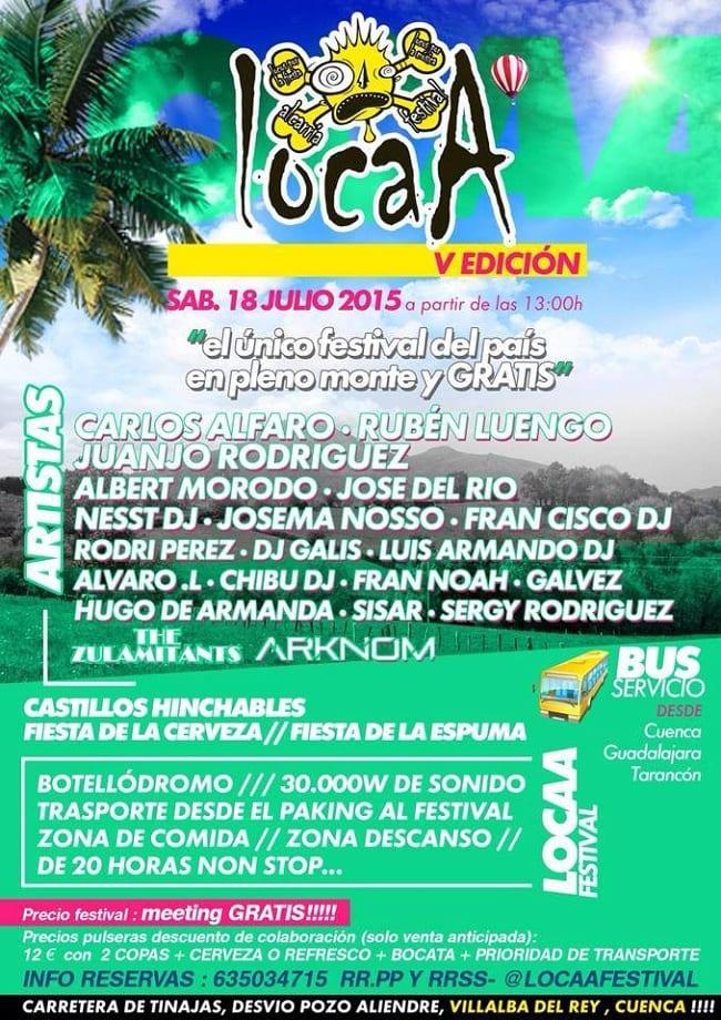 Locaa Festival, Musica Electrónica