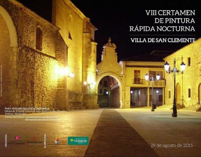 Cartel del certamen de pintura rápida de San Clemente, Cuenca