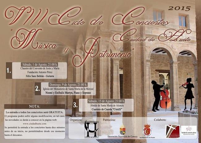 Ciclo de Conciertos Ciudad de Huete 2015, Música y Patrimonio
