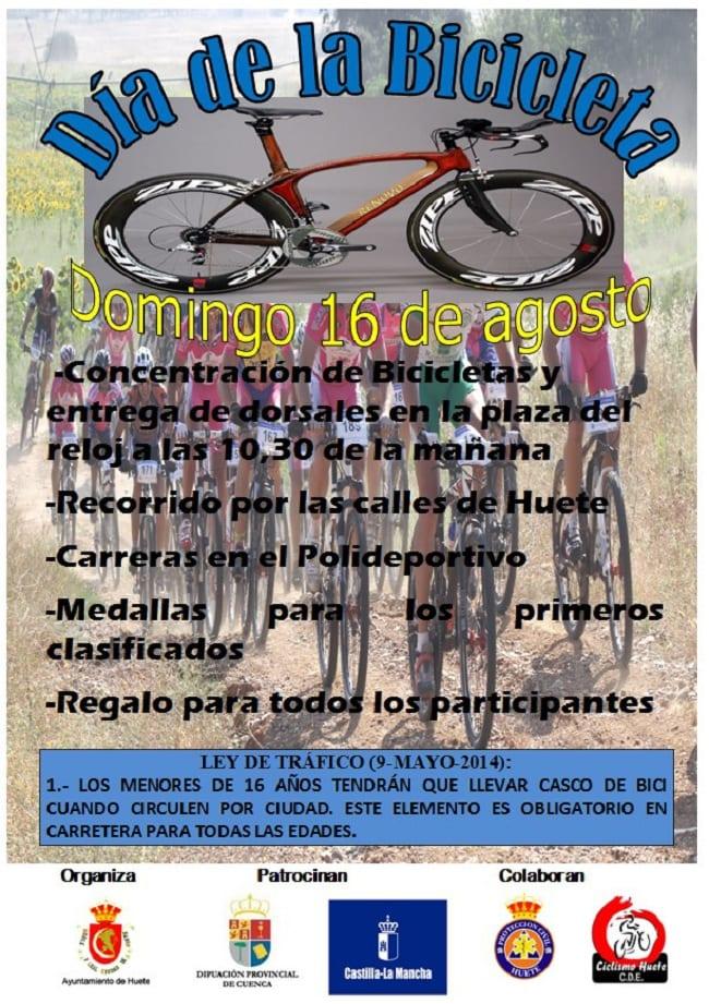 Cartel del Día de la Bici en Huete
