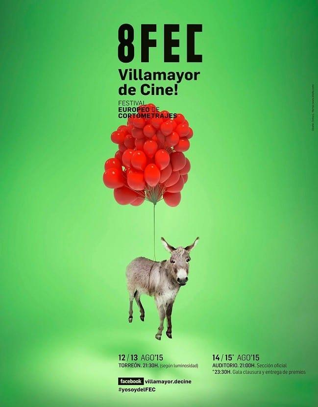 Cartel del 8º Festival de Cortometrajes Europeos de Villamayor de Santiago