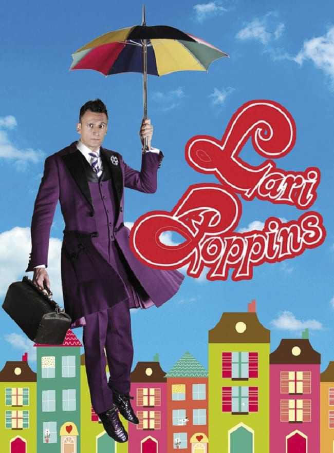 Cartel del mago Lari Poppins, en Cuenca