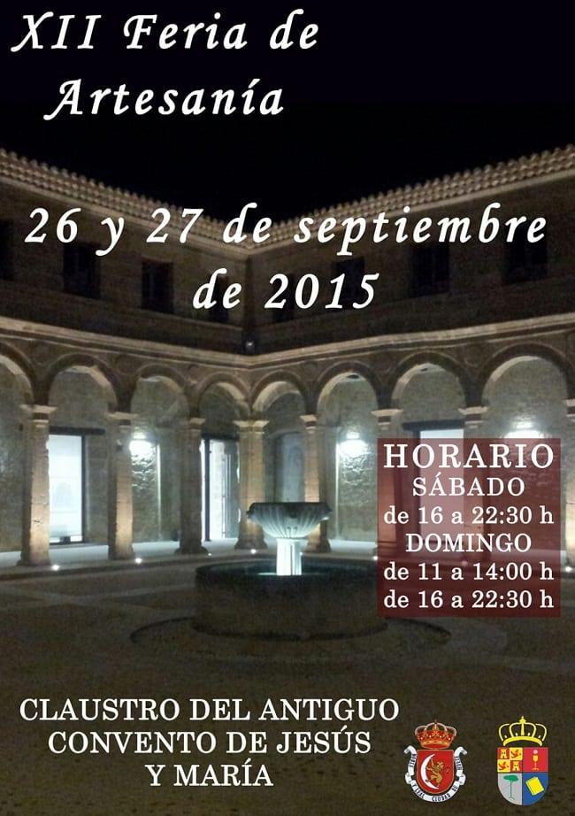 Cartel de la XII Feria de Artesanía en Huete