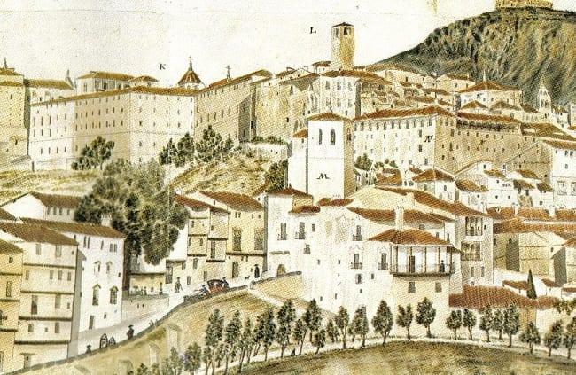 Dibujo de la ciudad de Cuenca