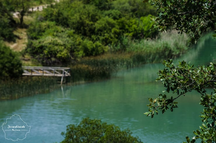 Vista lejana de la Laguna de Uña