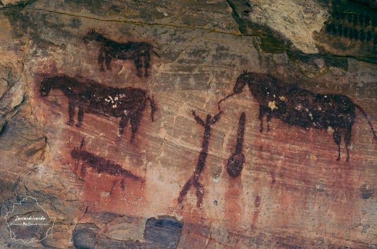 Caballos y humanos en las pinturas rupestres