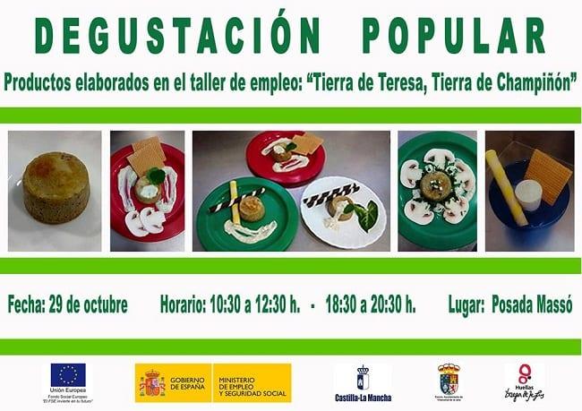 Degustación Popular de champiñon en Villanueva de la Jara