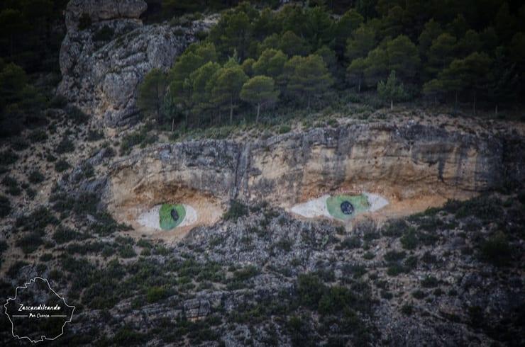 Vista de los Ojos de la Mora, Cuenca