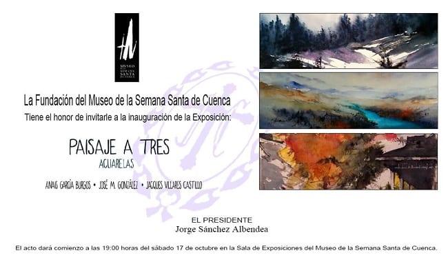 Paisaje a Tres Acuarelas, exposición en Cuenca