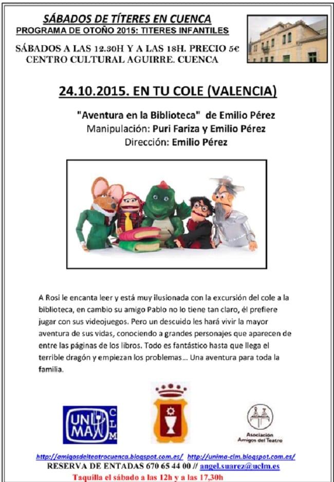"""En tu cole"", Títeres Infantiles en Cuenca"