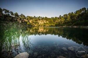 Vista desde el agua de las lagunas