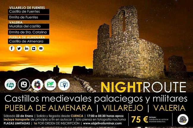 Ruta fotográfica nocturna por castillos de Cuenca