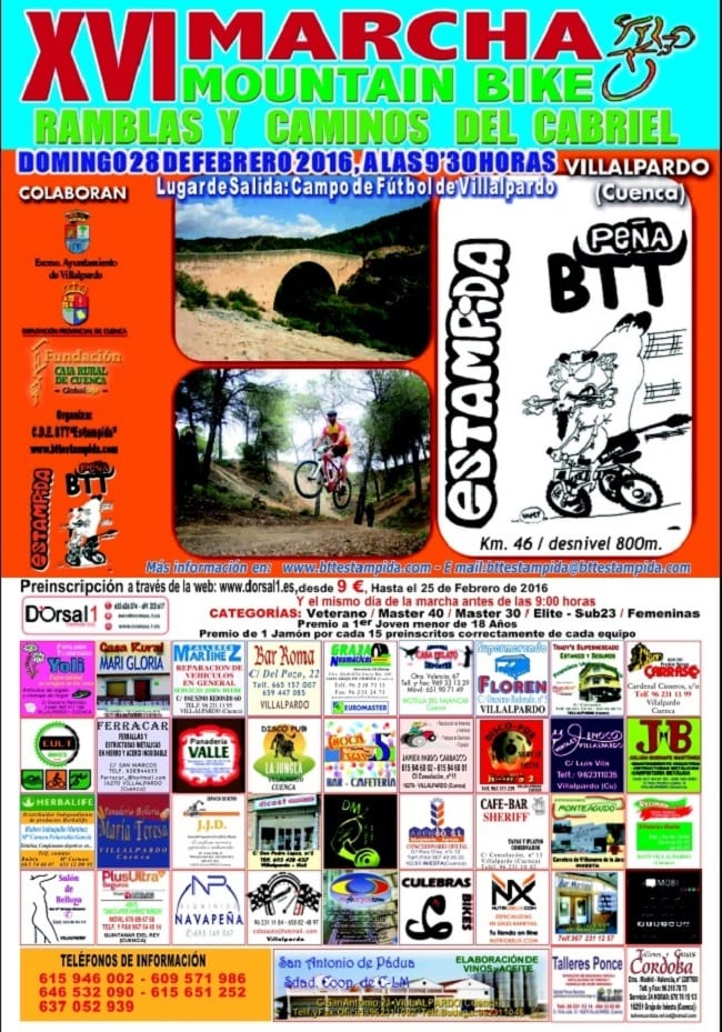 Marcha de Mountain Bike en Villalpardo