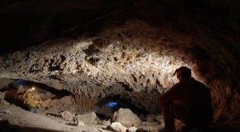 Mina de cristal romano en Saceda