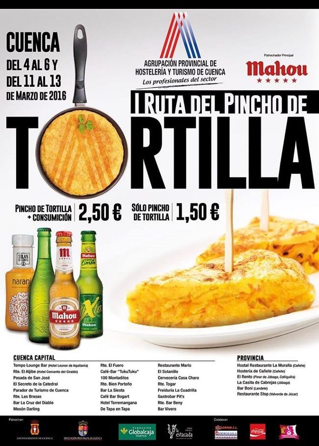 Pinchos de tortilla en Cuenca, I Ruta