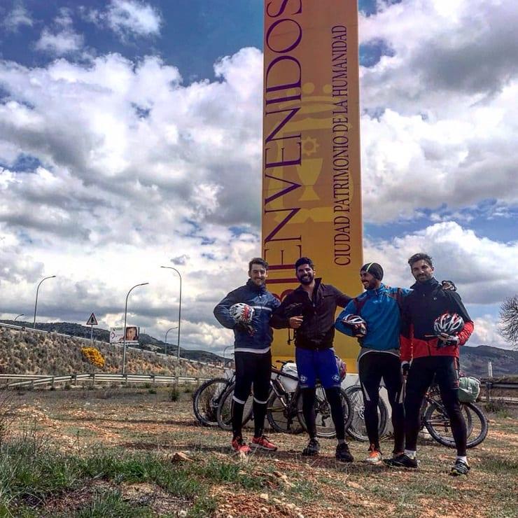 Llegada a Cuenca en bicicleta
