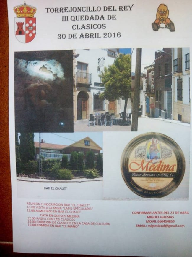 Coches clásicos en Torrejoncillo del Rey, abril 2016