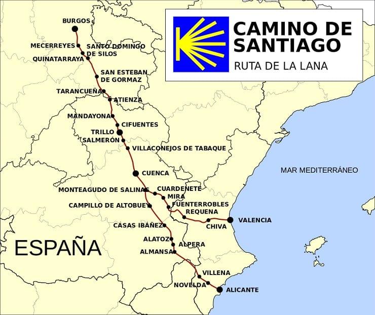 Camino de Santiago pasando por Cuenca