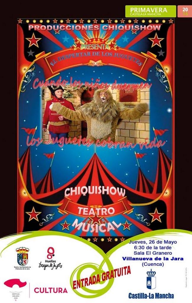 Actuación de ChiquiShow en Mota del Cuervo, Cuenca