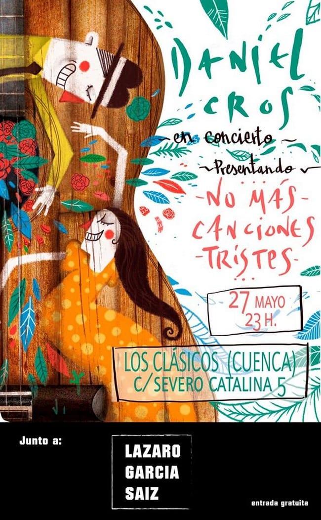 Concierto de Daniel Cros en el Pub Los Clásicos de Cuenca