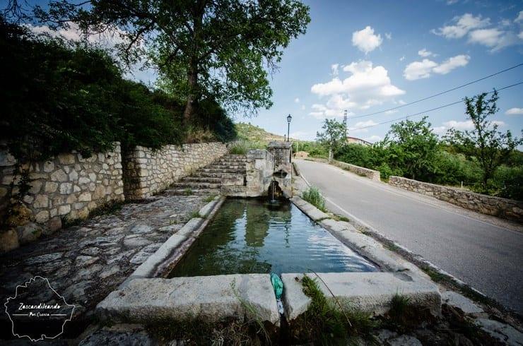 Fuente romana en Poyatos, Cuenca.