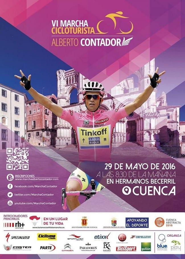 Marcha ciclista Alberto Contador 2016 Cuenca
