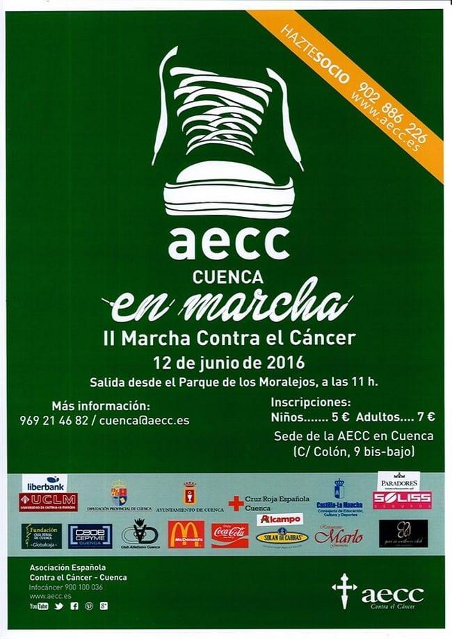 Marcha contra el cáncer en Cuenca 2016