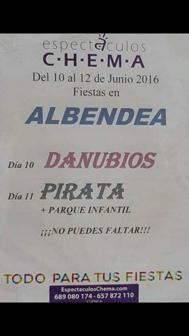 Fiestas San Antonio 2016 en Albendea, Cuenca