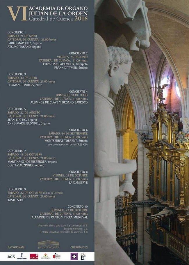 Segundo concierto del Ciclo Academia de Órgano Julián de la Orden