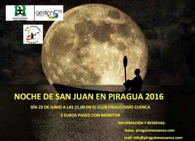 Piragüismo nocturno en Las Grajas