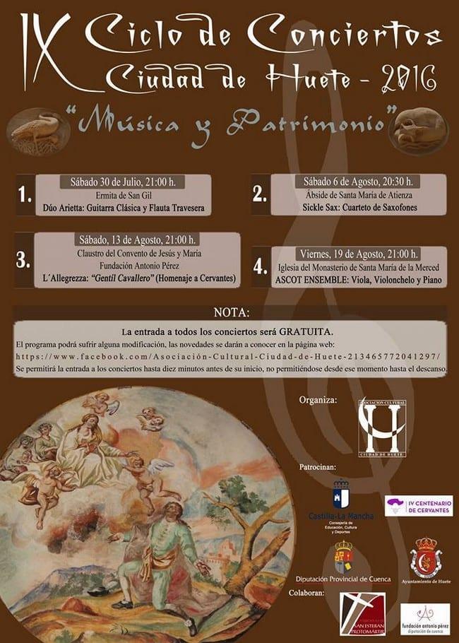 IX Ciclo de Conciertos Ciudad de Huete 2016