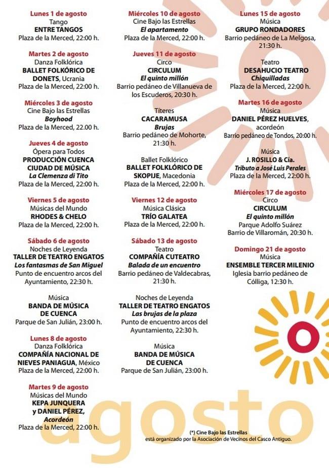Veranos de Cuenca agosto 2016