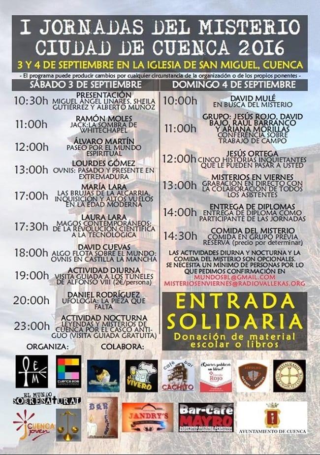 Cartel de las Jornadas del Misterio en Cuenca