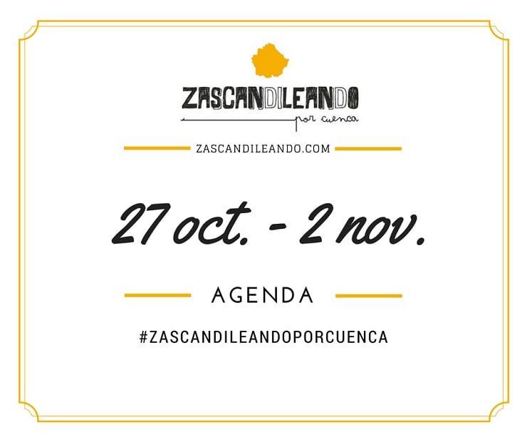 Agenda del 27 de octubre al 2 de noviembre de 2016 en Cuenca