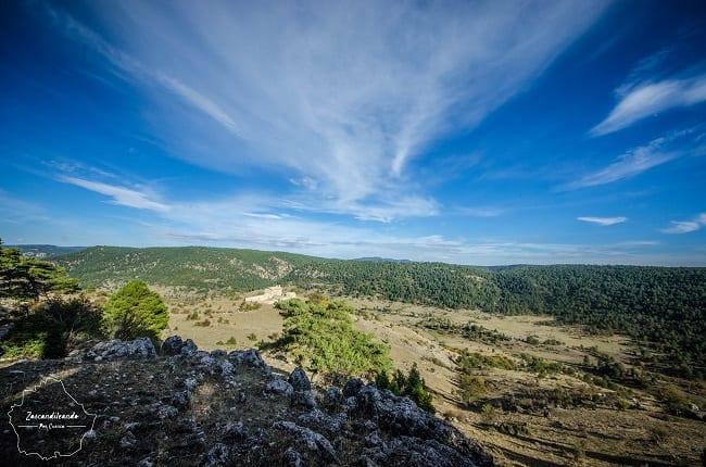 Valle de la Serranía de Cuenca. donde vimos a los ciervos y gamos