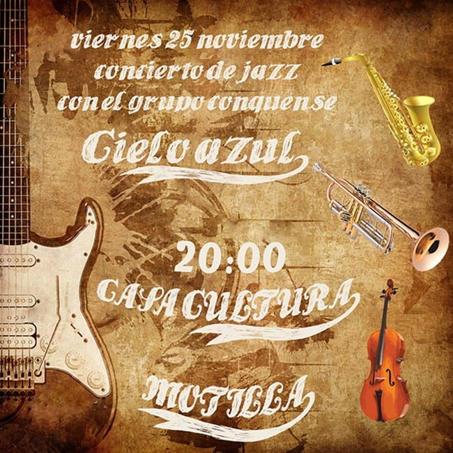 Old Paper. Retro Music Texture Background with Jazz Saxophone
