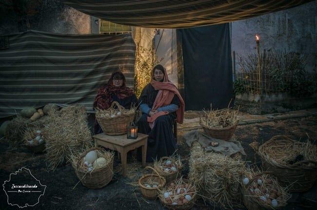 Vendedoras de Huevos en el Belén Viviente