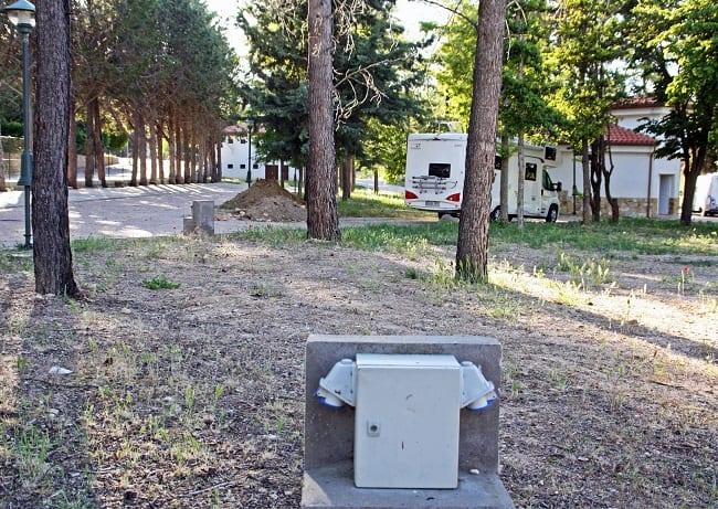 La Veguilla, espacio de aparcamiento de caravanas en Buendía
