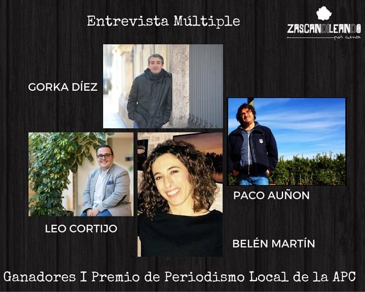 Gorka Díez, Paco Auñon, Leo Cortijo y Belén Martín
