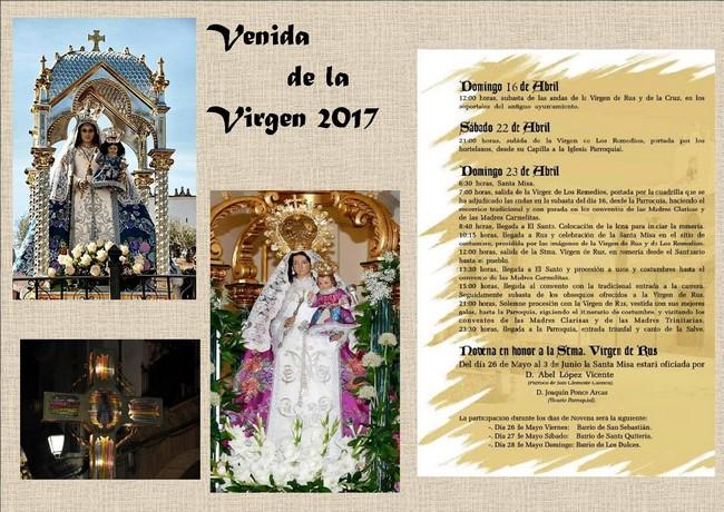 Venida de la virgen 2017 en San Clemente