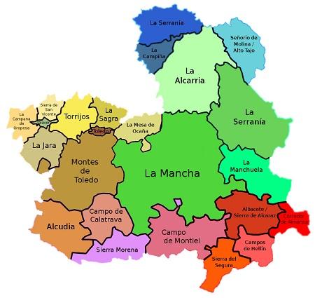 Provincias y comarcas de Castilla-La Mancha - Zascandileando