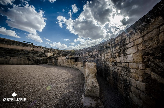 Interior del anfiteatro de Segóbriga