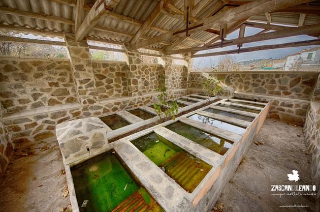 Vista del lavadero de Córcoles