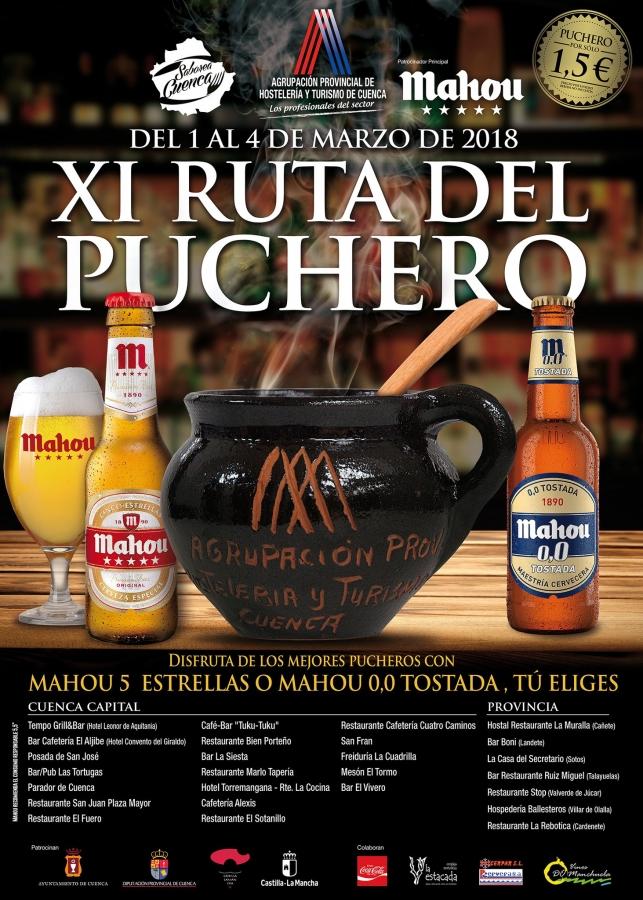 Cartel de la Ruta del Puchero 2018 en Cuenca