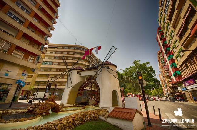 En Albacete, los Molinos de la Feria se consideran el punto de entrada a la zona del recinto ferial