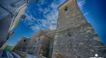 La torre de la iglesia de Santa Águeda es impresionante