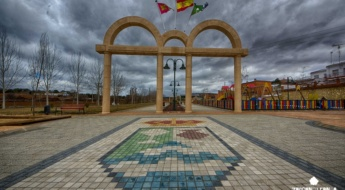 Entrada al parque municipal de Olmedilla de Alarcón