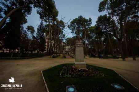 Busto en el parque Abelardo Sánchez de Albacete