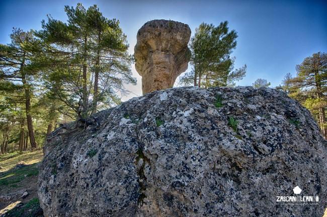La formación rocosa más conocida de la Ciudad Encantada es el Tormo Alto
